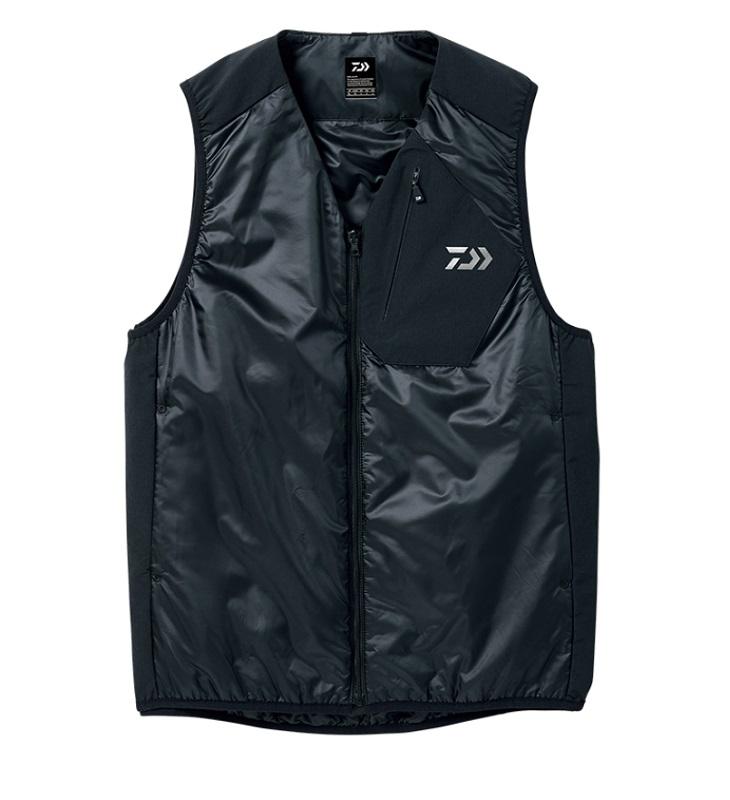 【お買い物マラソン】 ダイワ DJ-25008 プリマロフト ライトベスト ブラック 2XL / 釣り 防寒 ベスト