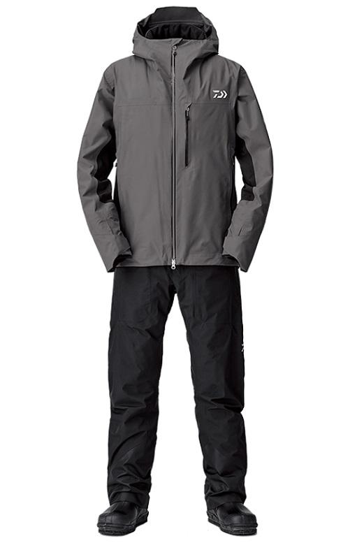 ダイワ DW-1208 ゴアテックスファブリクス ウィンタースーツ チャコール L / 釣り 防寒ウェア 上下セット