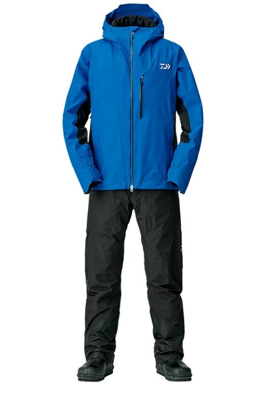 ダイワ DW-1208 ゴアテックスファブリクス ウィンタースーツ ブルー XL / 釣り 防寒ウェア 上下セット