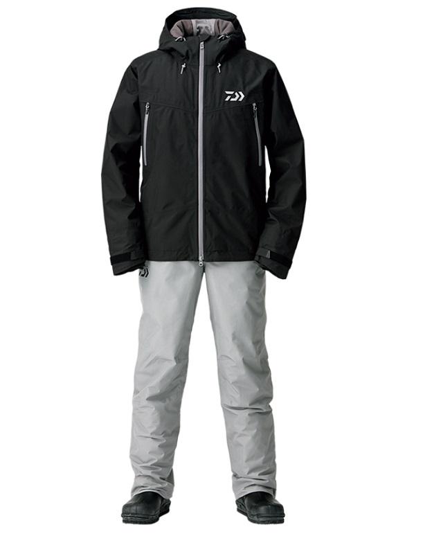 【お買い物マラソン】 ダイワ DW-1908 ゴアテックス ファブリクス ウィンタースーツ ブラック L / 釣り 防寒ウェア 上下セット