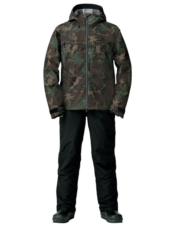 ダイワ DW-1908 ゴアテックス ファブリクス ウィンタースーツ グリーンカモ XL / 釣り 防寒ウェア 上下セット