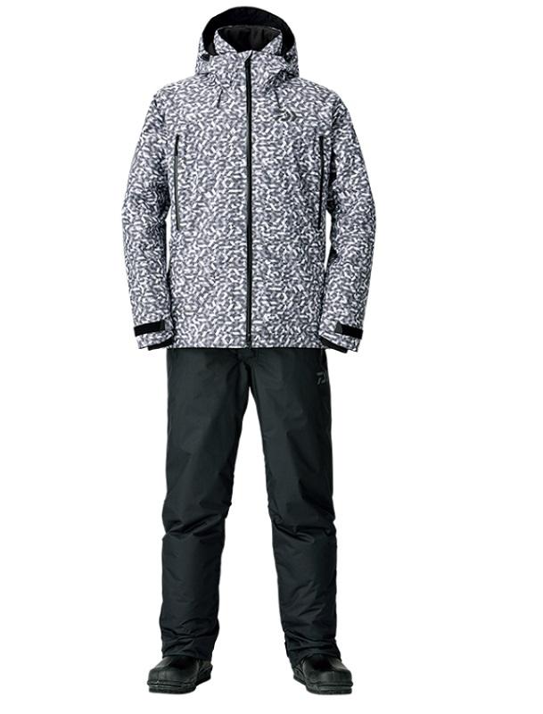 【お買い物マラソン】 ダイワ DW-3108 レインマックス ウィンタースーツ チャコールミラー L / 釣り 防寒ウェア 上下セット