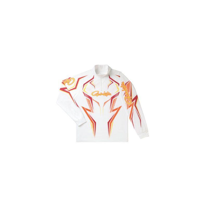 【お買い物マラソン】 がまかつ GM-3540 2WAYプリントジップシャツ(長袖) ホワイト/ワインレッド L / がまかつ シャツ 長袖