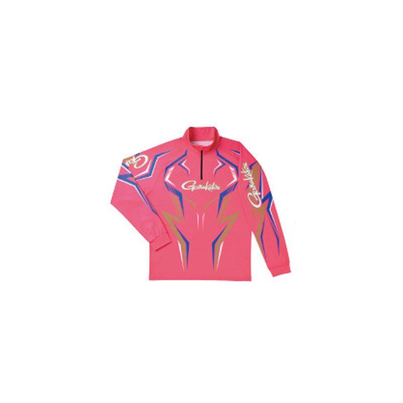 【お買い物マラソン】 がまかつ GM-3540 2WAYプリントジップシャツ(長袖) サクラ L / がまかつ シャツ 長袖