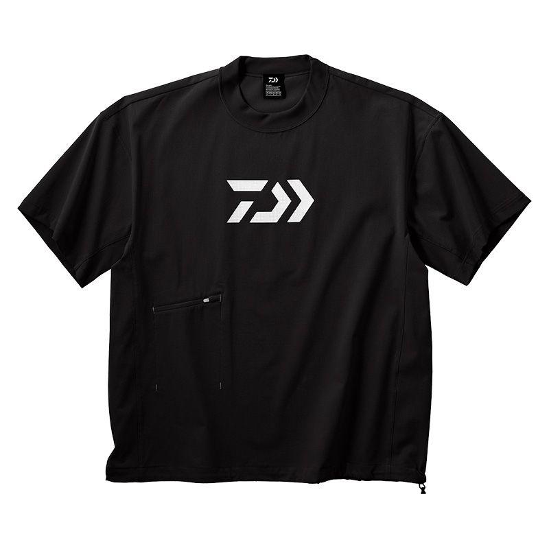 ダイワ(Daiwa) DE-66009 ビッグシルエット ショートスリーブメッシュTシャツ ブラック L / 半袖 Tシャツ 大きめシルエット 【キャッシュレス5%還元対象】