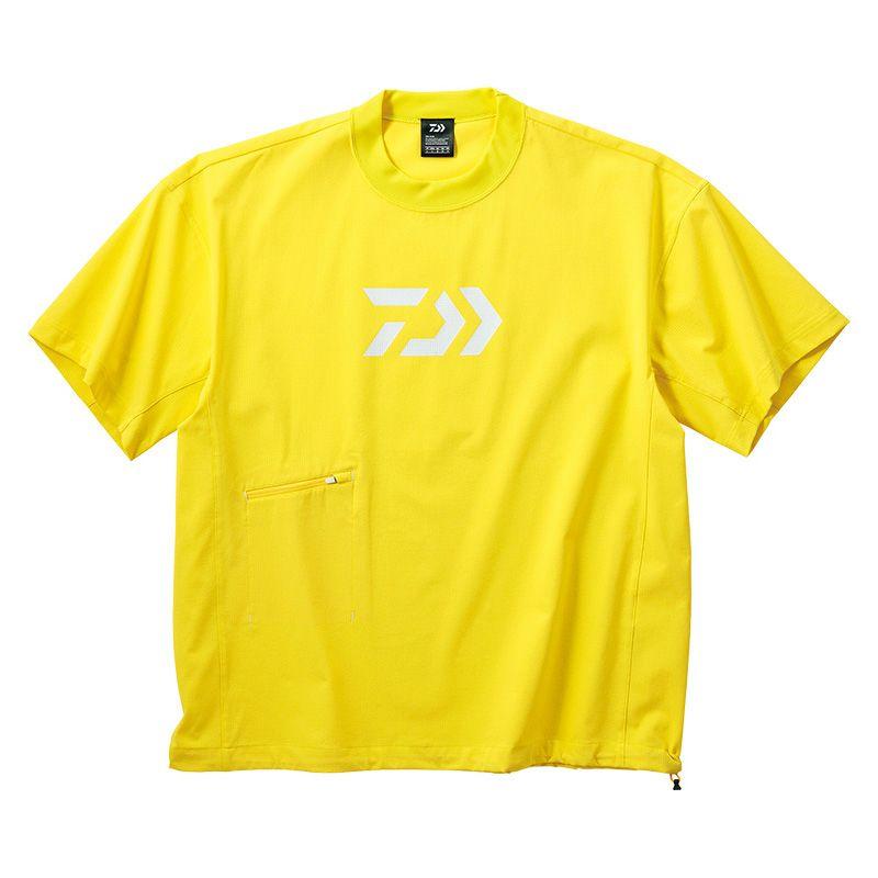 ダイワ(Daiwa) DE-66009 ビッグシルエット ショートスリーブメッシュTシャツ イエロー WM / 半袖 Tシャツ 大きめシルエット 【キャッシュレス5%還元対象】