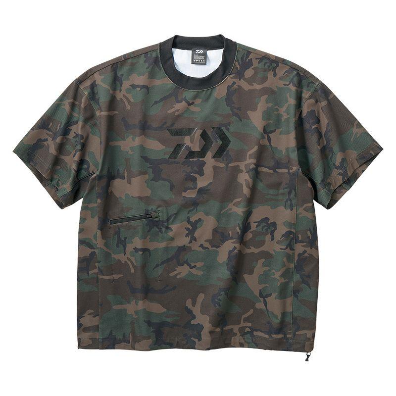 ダイワ(Daiwa) DE-66009 ビッグシルエット ショートスリーブメッシュTシャツ グリーンカモ 2XL / 半袖 Tシャツ 大きめシルエット 【キャッシュレス5%還元対象】