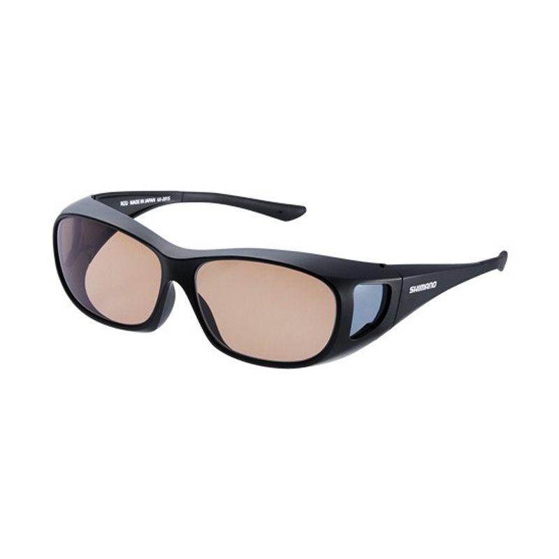 【お買い物マラソン ポイント最大44倍】 シマノ UJ-201S シマノオーバーグラス ブラウンxブラック / 偏光グラス サングラス メガネの上から