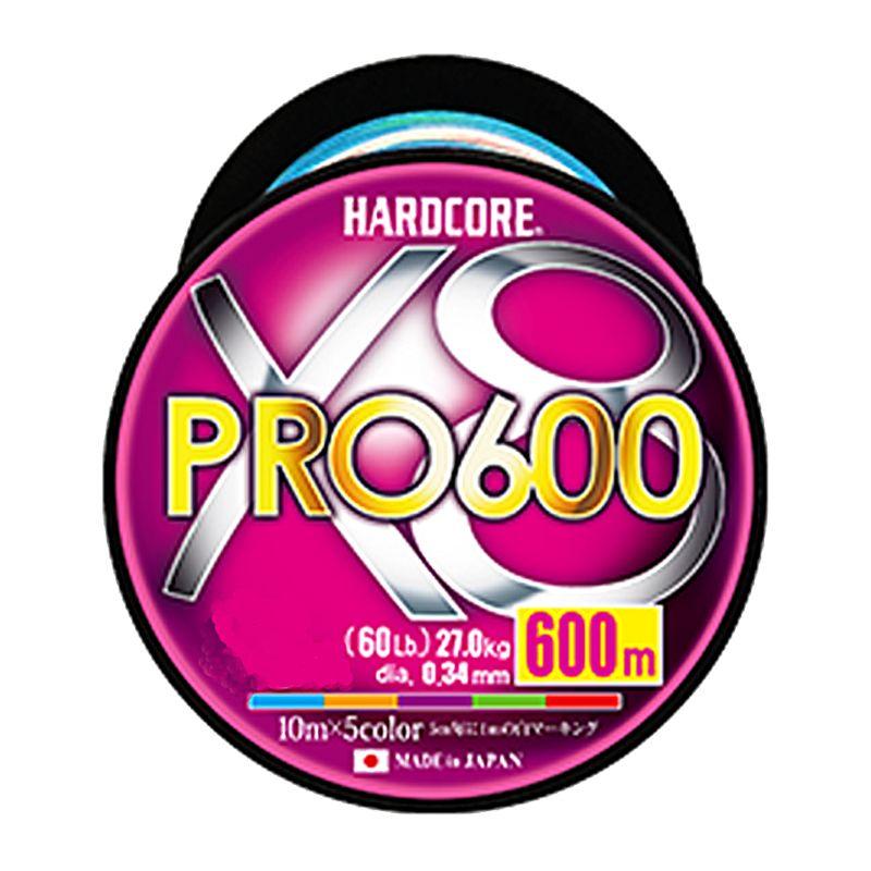 デュエル ハードコア X8 プロ 600m 6.0号 / PEライン 8本撚り 徳用ボビン巻き 【キャッシュレス5%還元対象】