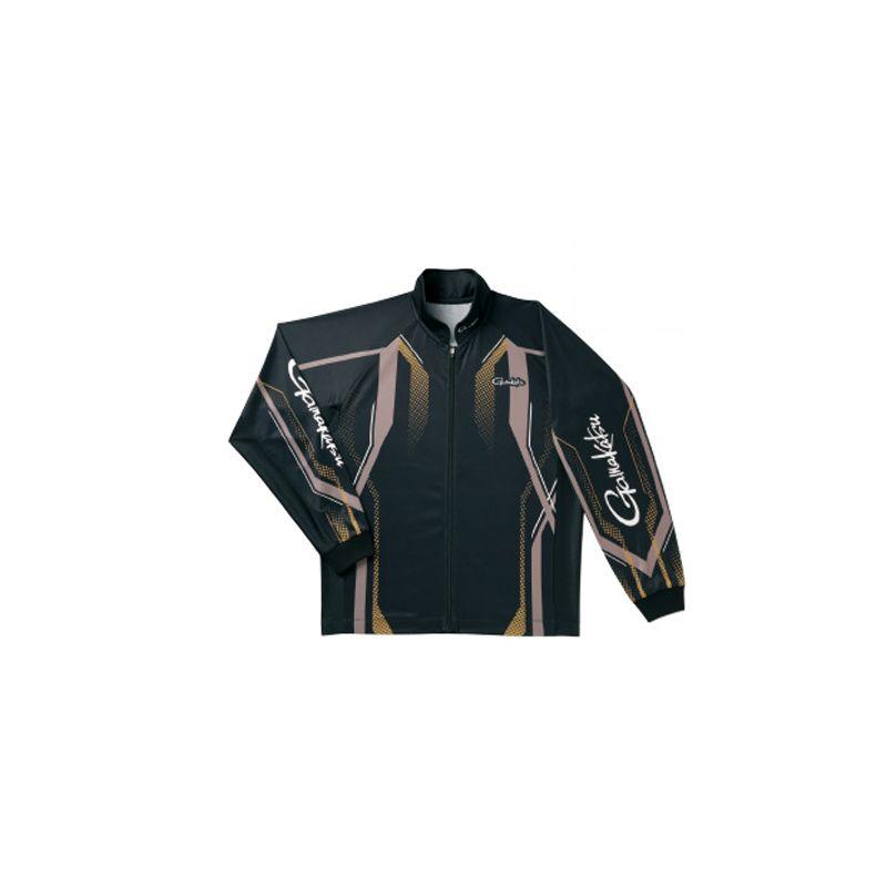 がまかつ GM-3569 フルジップトーナメントシャツ ブラック/ゴールド S / 鮎釣り ウェア 長袖シャツ 【お買い物マラソン ポイント最大44倍】