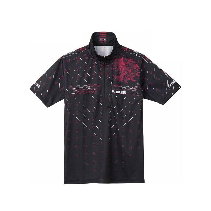 サンライン SUW-5573CW PRODRY シャツ(半袖) ブラック 3L / シャツ 半袖 UVカット 吸水速乾 【キャッシュレス5%還元対象】