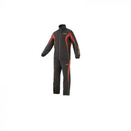 がまかつ GM-3608 トレーニングウォームスーツ LL ブラックxレッド / 防寒ウェア 上下 セットアップ 中着 【お買い物マラソン ポイント最大44倍】