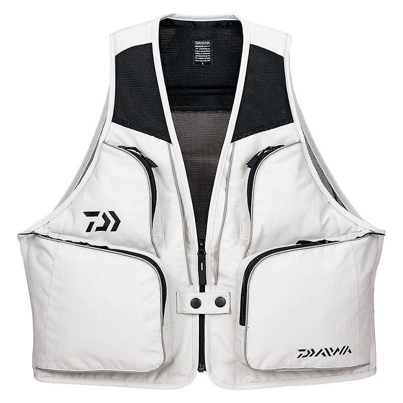 投げ釣りに最適な軽量ベスト ダイワ Daiwa DV-3608 サーフベスト 正規逆輸入品 XL 軽量 釣具 釣り具 お歳暮 スーパーセール ベスト ライトグレー