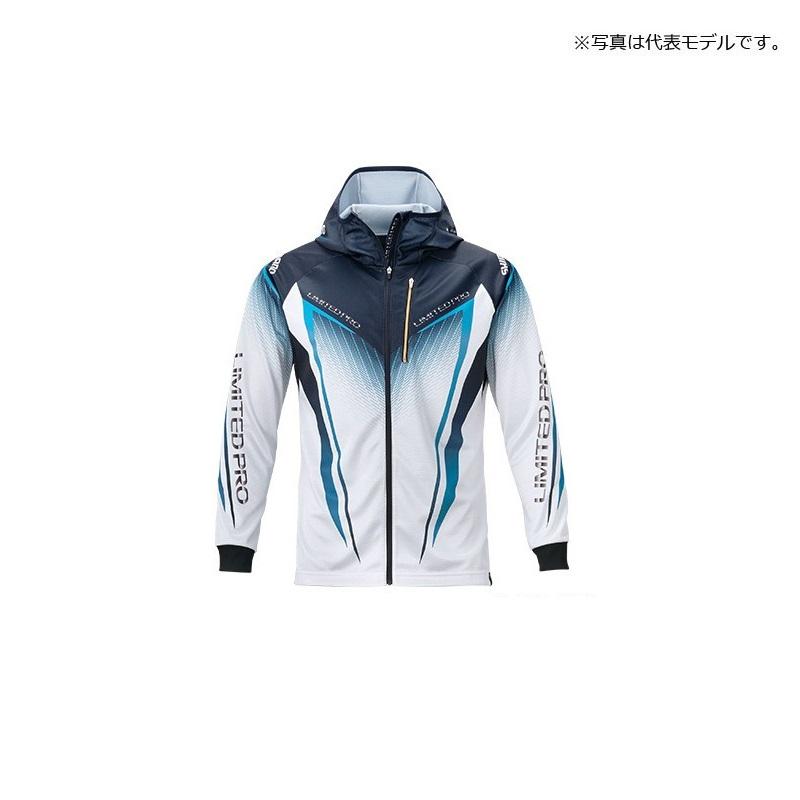 [正規販売店] ハイスペック素材 シマノ Shimano SH-013T フルジッププリントフーディシャツ LIMITED PRO 長袖 M 大決算セール ブルー 上着 釣具 UVカット ウェア 吸水速乾 ジップシャツ ホワイト 釣り具