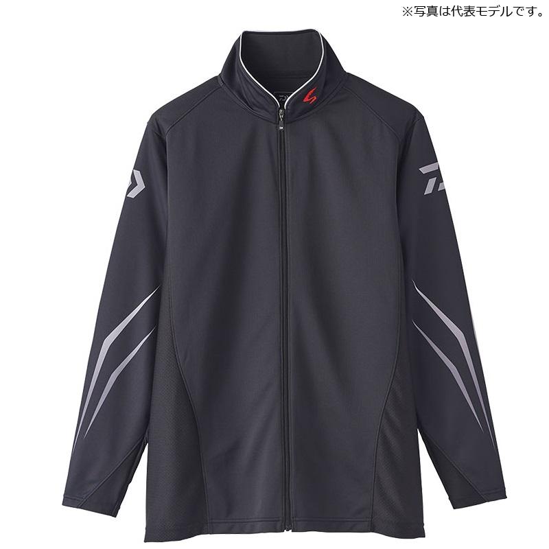 ダイワ(Daiwa) DE-72020 スペシャル ウィックセンサー フルジップ長袖メッシュシャツ M ブラック / ウェア シャツ ジップシャツ 【お買い物マラソン ポイント最大44倍】