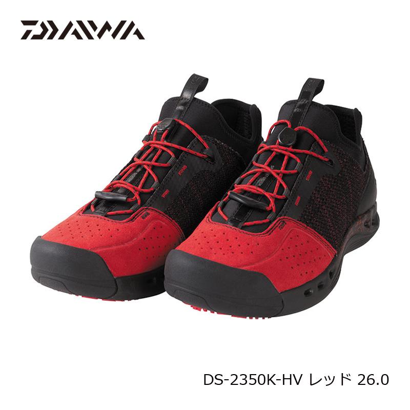 ダイワ(Daiwa) DS-2350K-HV フィッシングシューズ(ハイパーVソール) 26.0cm レッド / フットウェア シューズ 【6/30迄 キャッシュレス5%還元対象】