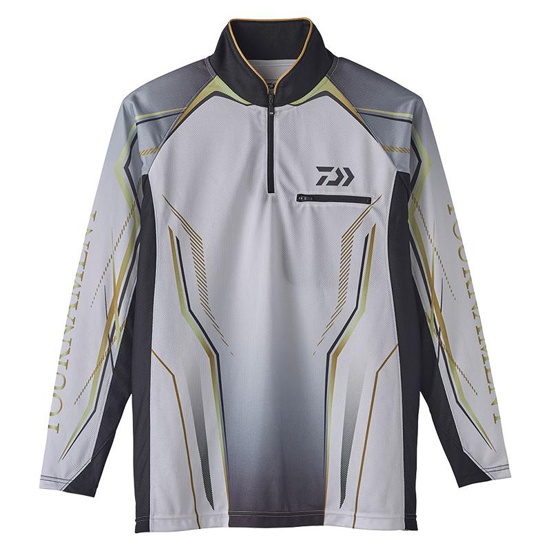 ダイワ(Daiwa) DE-73020 トーナメント アイスドライ(R) ジップアップ メッシュシャツ L ホワイト / ウェア シャツ 長袖 【お買い物マラソン ポイント最大44倍】