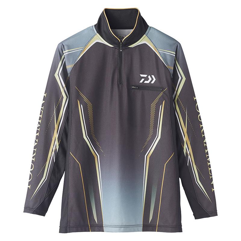 ダイワ(Daiwa) DE-73020 トーナメント アイスドライ(R) ジップアップ メッシュシャツ M ブラック / ウェア シャツ 長袖 【6/30迄 キャッシュレス5%還元対象】