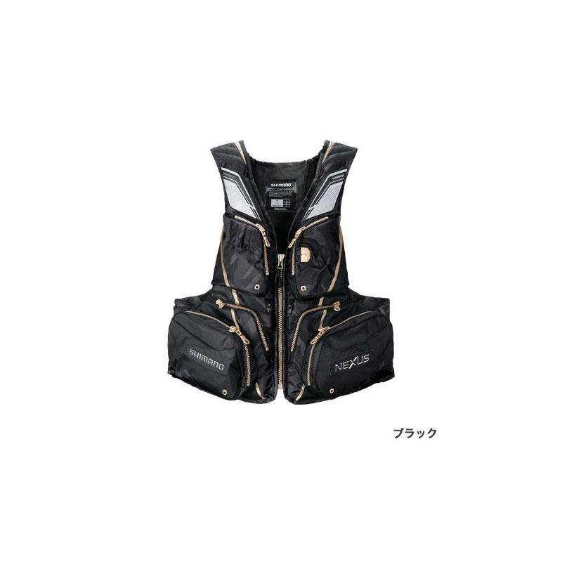 シマノ(Shimano) VF-121T NEXUS・フローティングベスト EX XL(裾囲最大/145cm) ブラック / ウェア ベスト 【お買い物マラソン ポイント最大44倍】