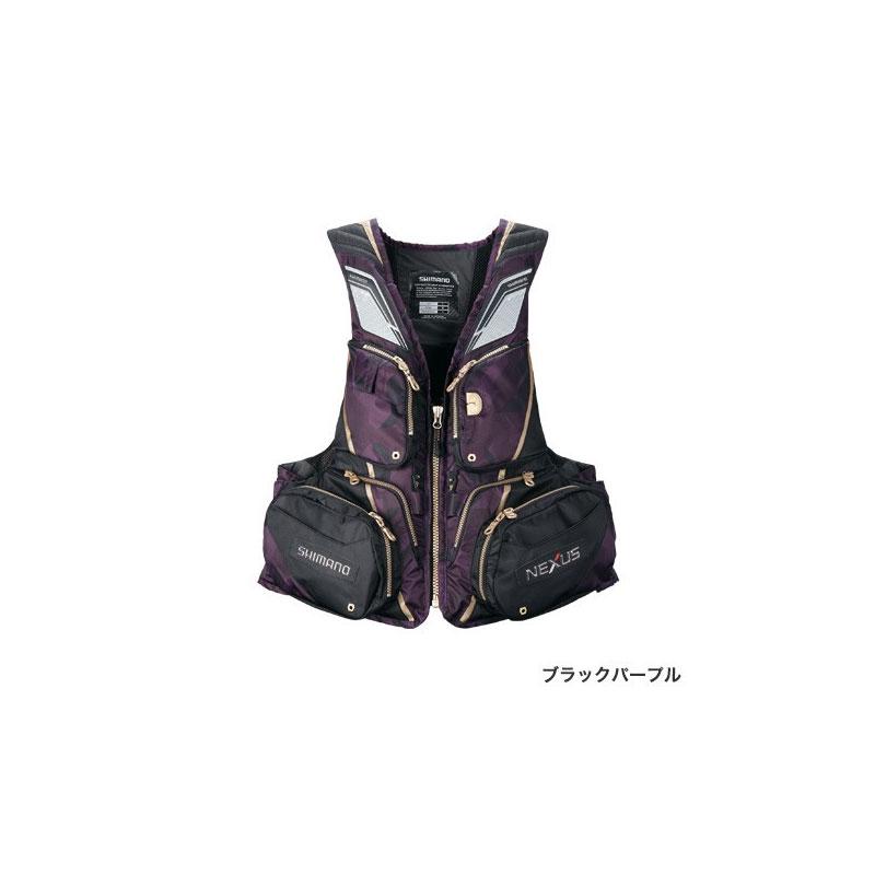 シマノ(Shimano) VF-121T NEXUS・フローティングベスト EX M(裾囲最大/120cm) ブラックパープル / ウェア ベスト 【お買い物マラソン ポイント最大44倍】