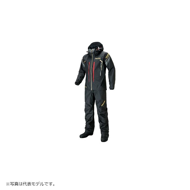 シマノ(Shimano) RA-124S NEXUS・DS タフレインスーツ 2XL ブラックド / レインウェア セットアップ 上下セット 【6/30迄 キャッシュレス5%還元対象】