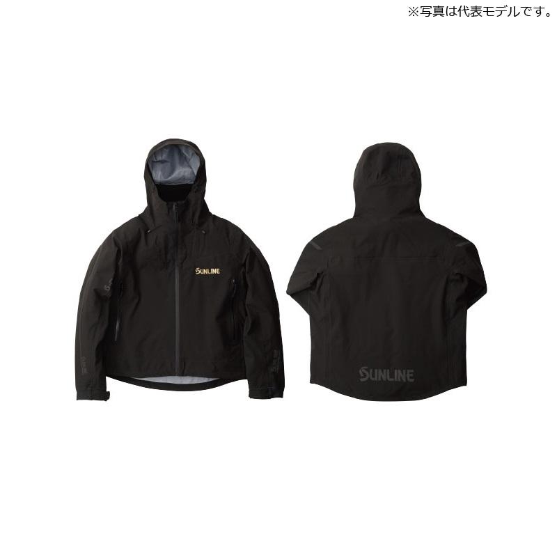サンライン(Sunline) SUA-09202 S-DRY 鮎ショートレインジャケット S ブラック / ウェア ジャケット 上着 上のみ 【6/30迄 キャッシュレス5%還元対象】