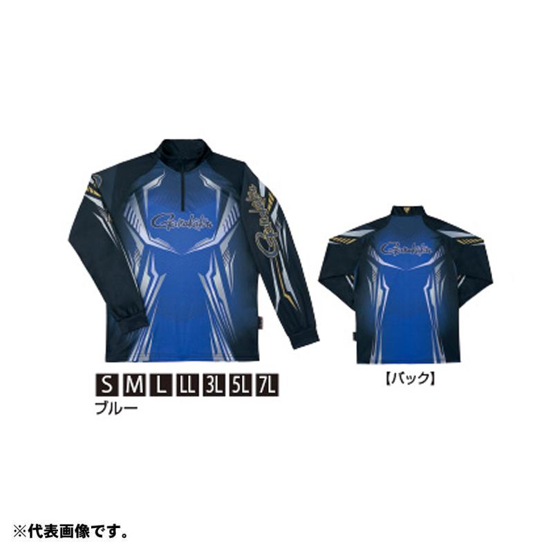 がまかつ GM-3616 2WAYプリントジップシャツ(長袖) L ブルー 【お買い物マラソン ポイント最大44倍】