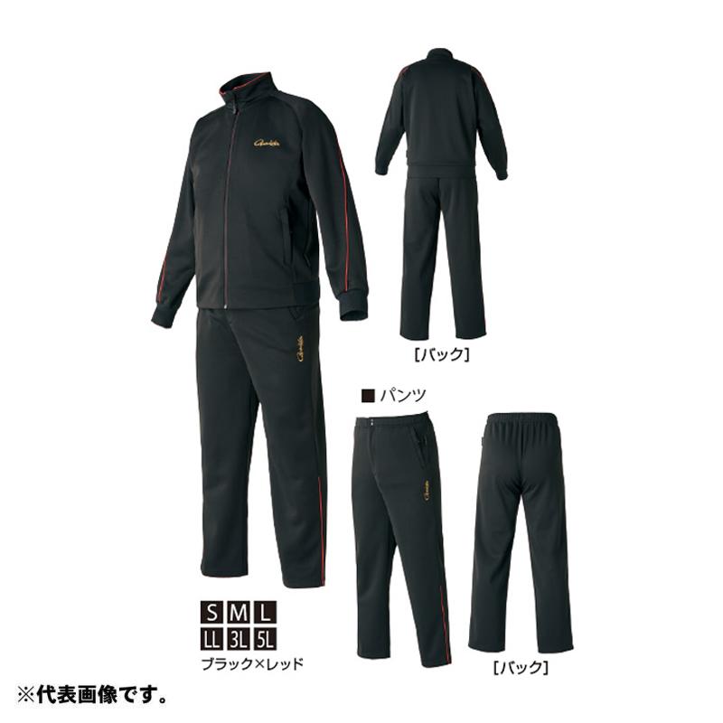 がまかつ GM-3623 ジャージスーツ 3L ブラック/レッド 【お買い物マラソン ポイント最大44倍】