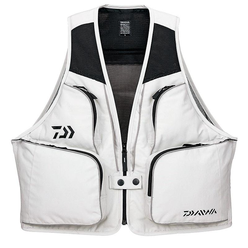 投げ釣りに最適な軽量ベスト ダイワ Daiwa DV-3608 サーフベスト 釣り具 保障 釣具 贈り物 2XL スーパーセール ライトグレー