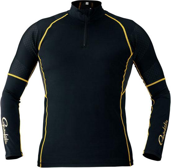 がまかつ コンプレッションジップシャツ ブラック 3L