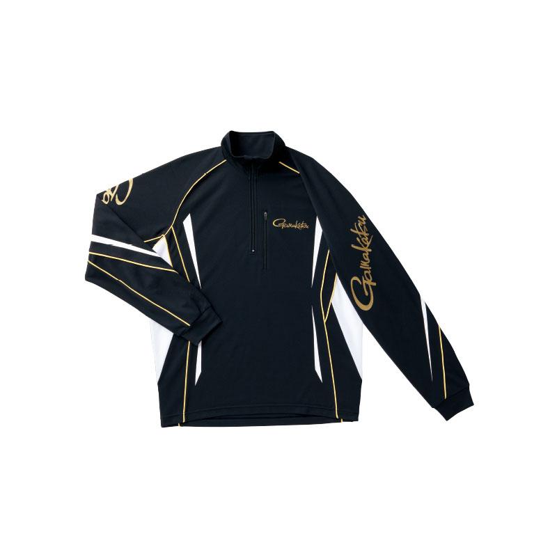 がまかつ コカゲマックス(KoKaGe Max)(R)ジップシャツ ブラック LL