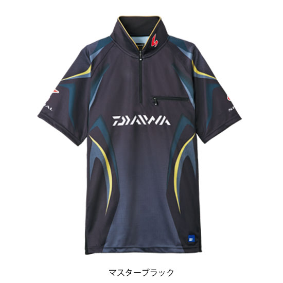 ダイワ(Daiwa) DE-7107 スペシャル アイスドライ ジップアップ半袖メッシュシャツ ブラック L /ウェア