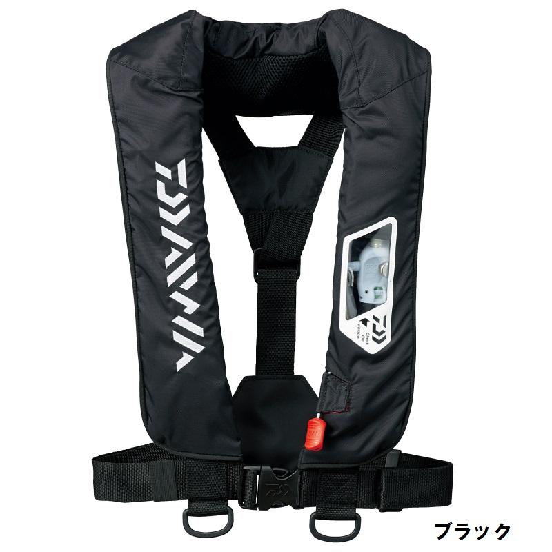 ダイワDF-2007 ウォッシャブルライフジャケット ブラック フリー / 肩掛けタイプ 手動・自動膨脹式【FTOマラソン特価】