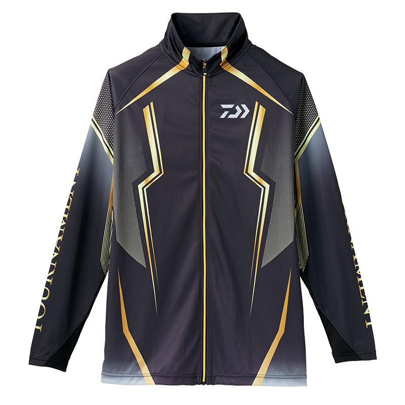 【お買い物マラソン】 ダイワ(Daiwa) DE-73008 トーナメント ドライフルジップ メッシュシャツ ブラック M /ウェア