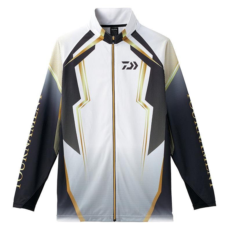 【お買い物マラソン】 ダイワ(Daiwa) DE-73008 トーナメント ドライフルジップ メッシュシャツ ホワイト L /ウェア