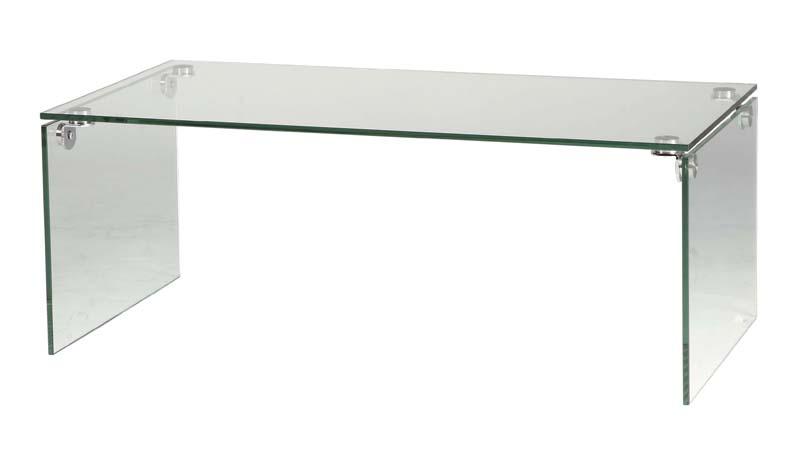 ガラスセンターテーブル 幅100 奥行50 高さ38.5cm クリア ローテーブル おしゃれ シンプル モダン 強化ガラス 四角 角型 透明