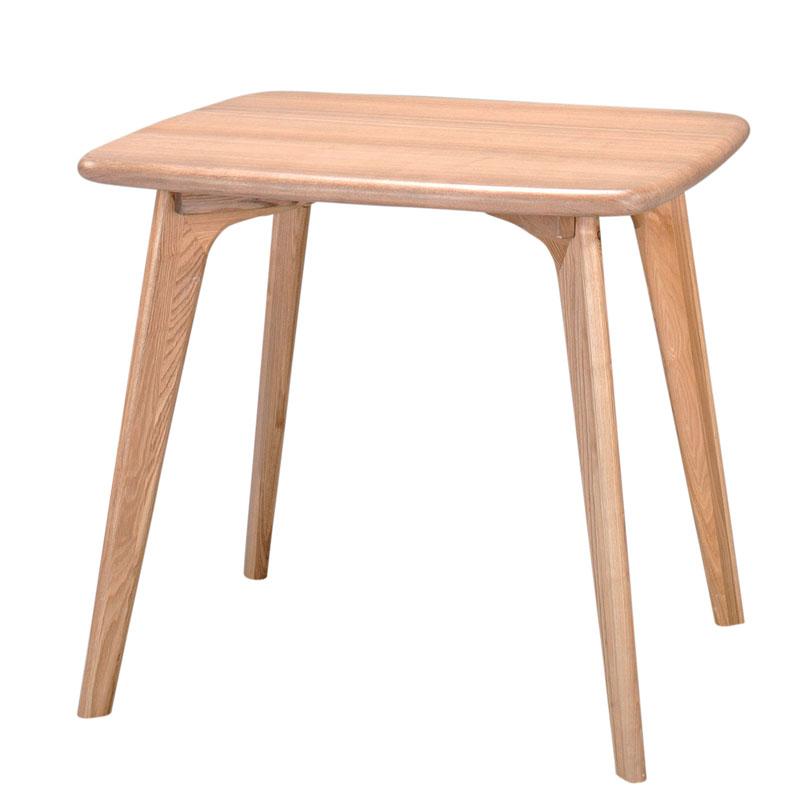 アッシュ材の美しい木目とぬくもりアッシュ突き板ダイニングテーブル 80×70