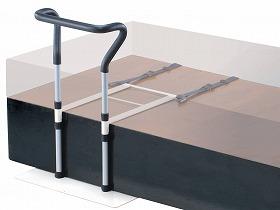 セーフティーベッドアーム ワイドグリップタイプ/イーストアイ 床周り関連商品 ベッド付属品 移乗バー 介護用品