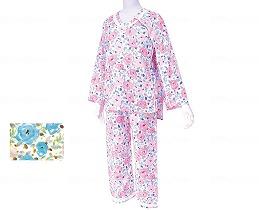 イージー オン·オフ療養パジャマ/茄子花【RCP】衣類 パジャマ パジャマ