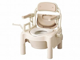FX-CPはねあげ快適脱臭トランスファータイプ・キャスター付/アロン化成 トイレ及び排泄関連 ポータブルトイレ 樹脂製トイレ 介護用品.