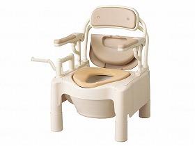 FX-CPはねあげソフト便座キャスタ-付/アロン化成 トイレ及び排泄関連 ポータブルトイレ 樹脂製トイレ 介護用品.