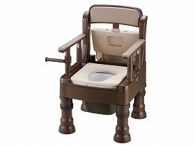 ポータブルトイレきらくMY型(やわらか便座)/リッチェル トイレ及び排泄関連 ポータブルトイレ 樹脂製トイレ 介護用品.