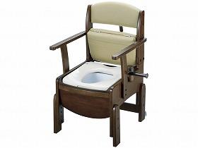 木製トイレ きらくコンパクト/リッチェル トイレ及び排泄関連 ポータブルトイレ 木製トイレ 介護用品.