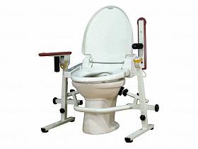 といれって(スチール製) 肘掛跳ね上げ式/ウェルファン トイレ及び排泄関連 トイレ用手すり 跳ね上げあり 介護用品.