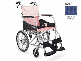 ふわりす(エアタイヤ軽量仕様) KF16-42SB/カワムラサイクル 歩行関連商品 車いす(本体) 介助型 介護用品