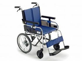MYU 介助型(背折)MYU-166JD/ミキ 歩行関連商品 車いす(本体) 介助型 介護用品