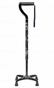 オールカーボン四点式 ミドルタイプ/島製作所 歩行関連商品 杖 4点杖・多点杖 介護用品