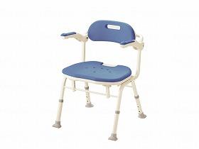 折りたたみシャワーベンチIS/アロン化成 入浴関連商品 シャワーチェアー 背付き・肘掛付き 介護用品.