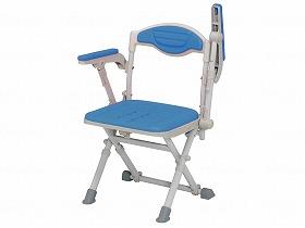 湯チェア16 肘あり/ウチエ 入浴関連商品 シャワーチェアー 背付き・肘掛付き 介護用品
