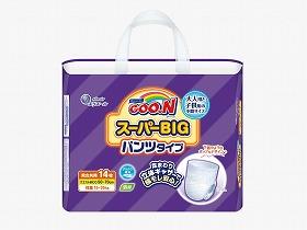 グーン スーパーBIGパンツ 14枚入 ケース/大王製紙 施設関連商品 消耗品 その他 介護用品